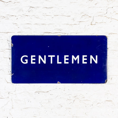 A BRITISH RAILWAYS GENTLEMEN ENAMEL SIGN