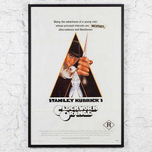 A CLOCKWORK ORANGE - ORIGINAL US ONE-SHEET POSTER