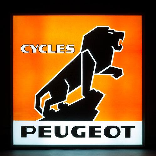 ILLUMINATING PEUGEOT CYCLES SIGN