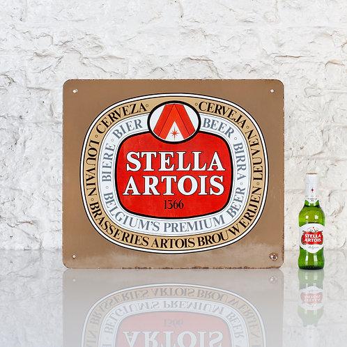 SMALL STELLA ARTOIS BEER / BIER ENAMEL SIGN