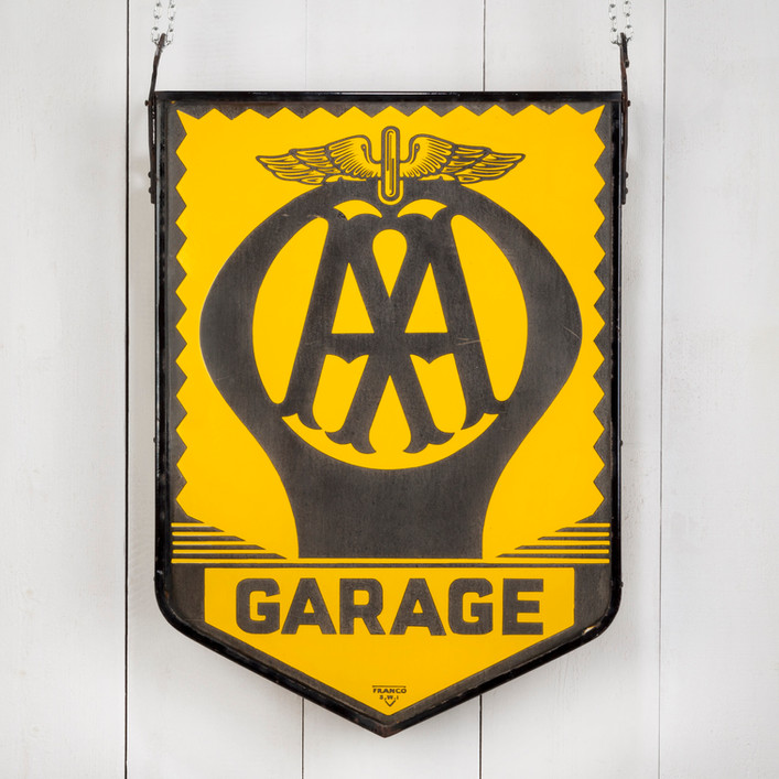 DOUBLE-SIDED, HANGING AA GARAGE SIGN