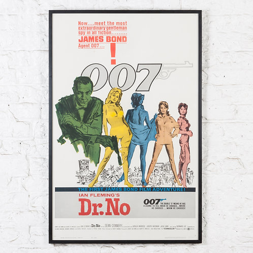 JAMES BOND / 007 - DR. NO, ORIGINAL US FILM POSTER
