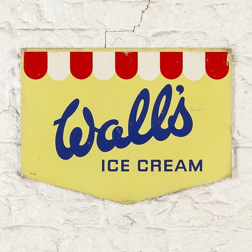 CHARMING, VINTAGE WALL'S ICE CREAM TIN SIGN