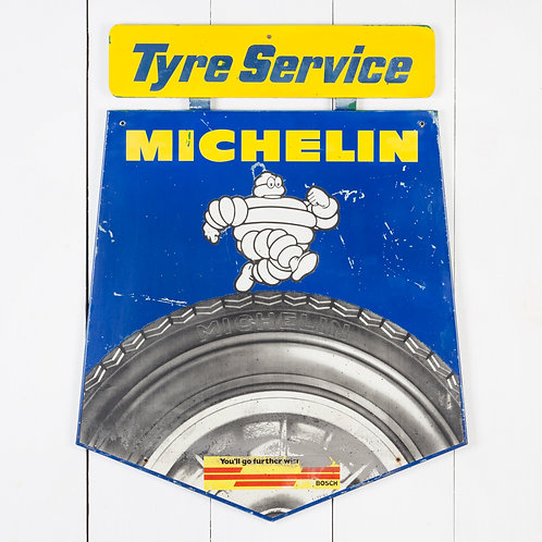 MICHELIN TYRE SERVICE - TIN ADVERTISING SIGN