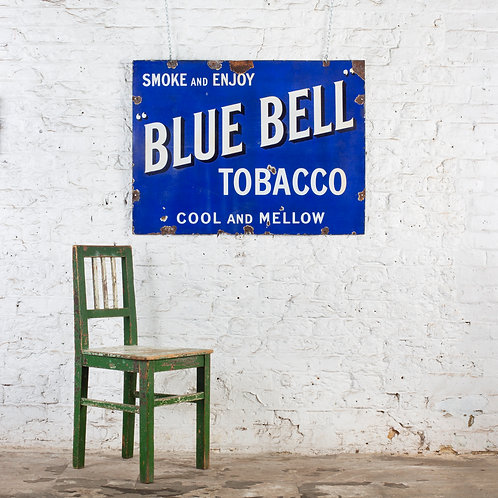 LOVELY, LARGE BLUE BELL TOBACCO ENAMEL SIGN