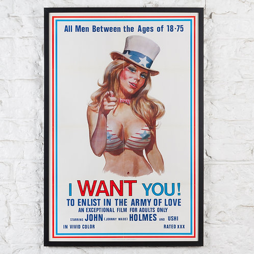 I WANT YOU! ORIGINAL 1970 XXX US MOVIE POSTER