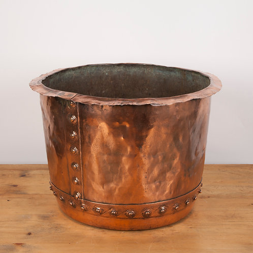 VICTORIAN COPPER WASH POT / CAULDRON / LOG BIN / PLANTER