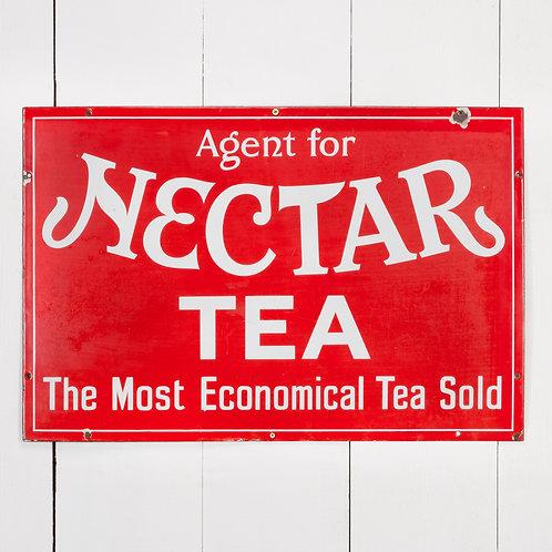 VIBRANT AND UNUSUAL NECTAR TEA ENAMEL SIGN