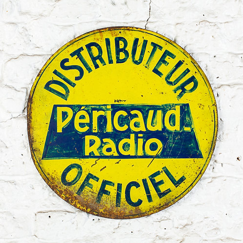 PÉRICAUD RADIO - CHARMING, VINTAGE FRENCH SIGN