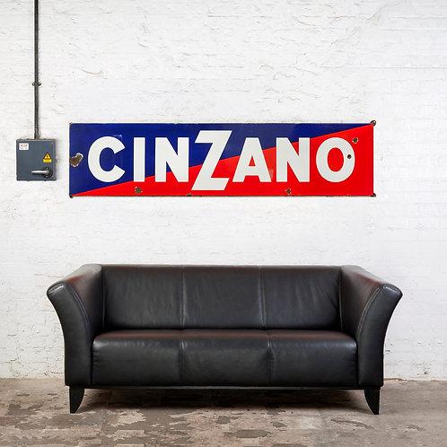 LOVELY, LARGE CINZANO ENAMEL SIGN