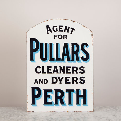 A DOUBLE-SIDED ENAMEL SIGN FOR PULLARS OF PERTH