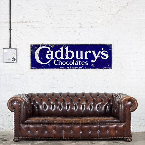LARGE CADBURY'S CHOCOLATES ENAMEL SIGN