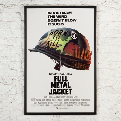 STANLEY KUBRICK'S FULL METAL JACKET - ORIGINAL US POSTER