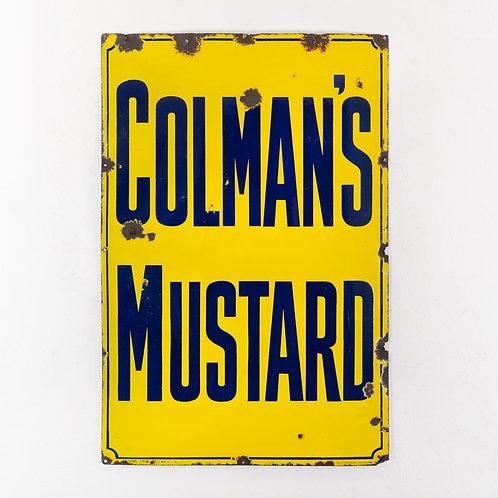 LARGE COLMAN'S MUSTARD ENAMEL SIGN