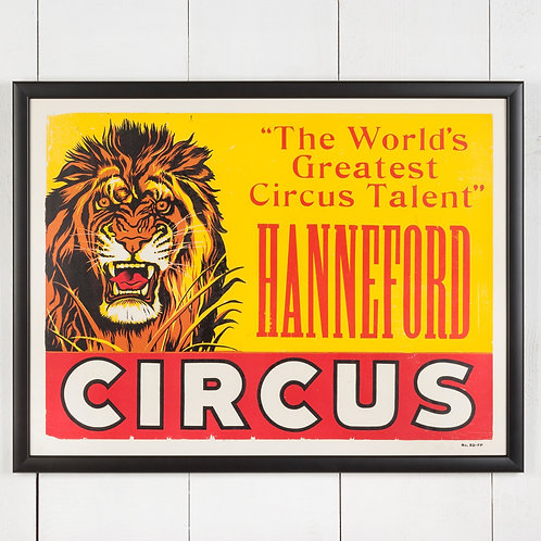 LARGE, FRAMED AMERICAN CIRCUS POSTER