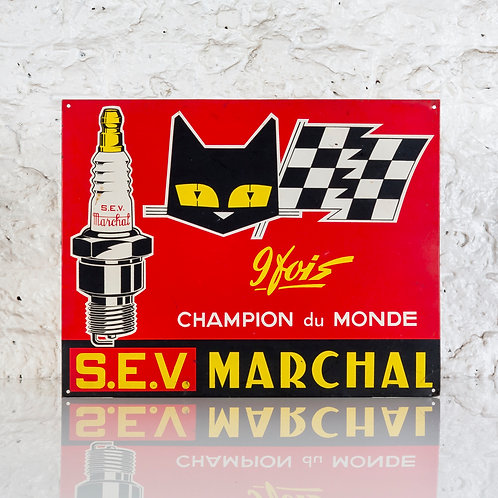 S.E.V. MARCHAL VIBRANT VINTAGE SPARK PLUGS TIN SIGN