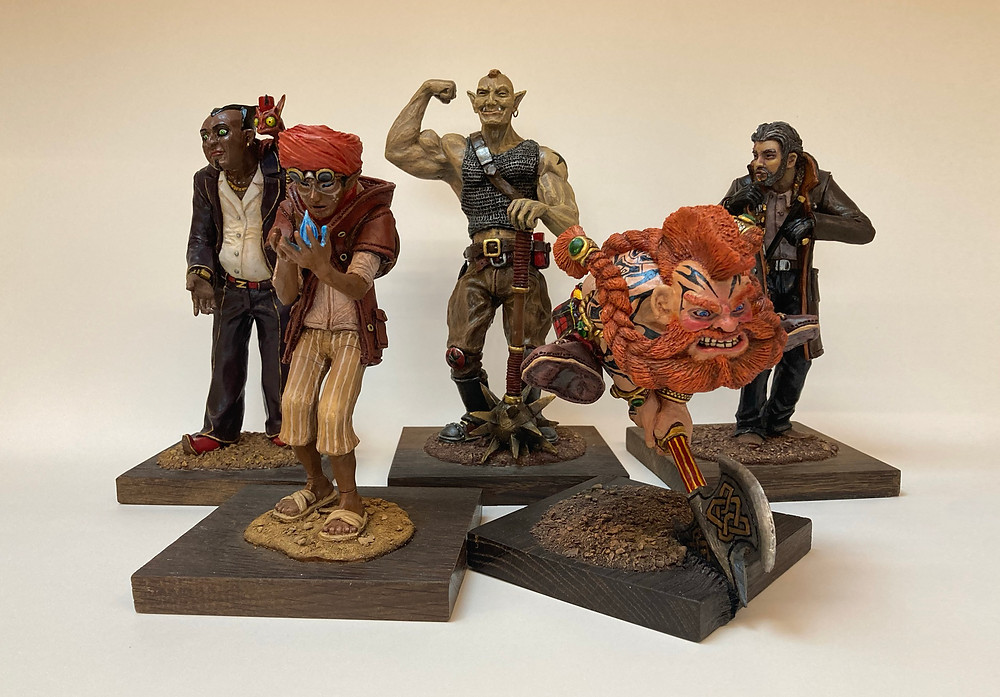 Dungeons and Dragons D&D models by Kengo Kurimoto