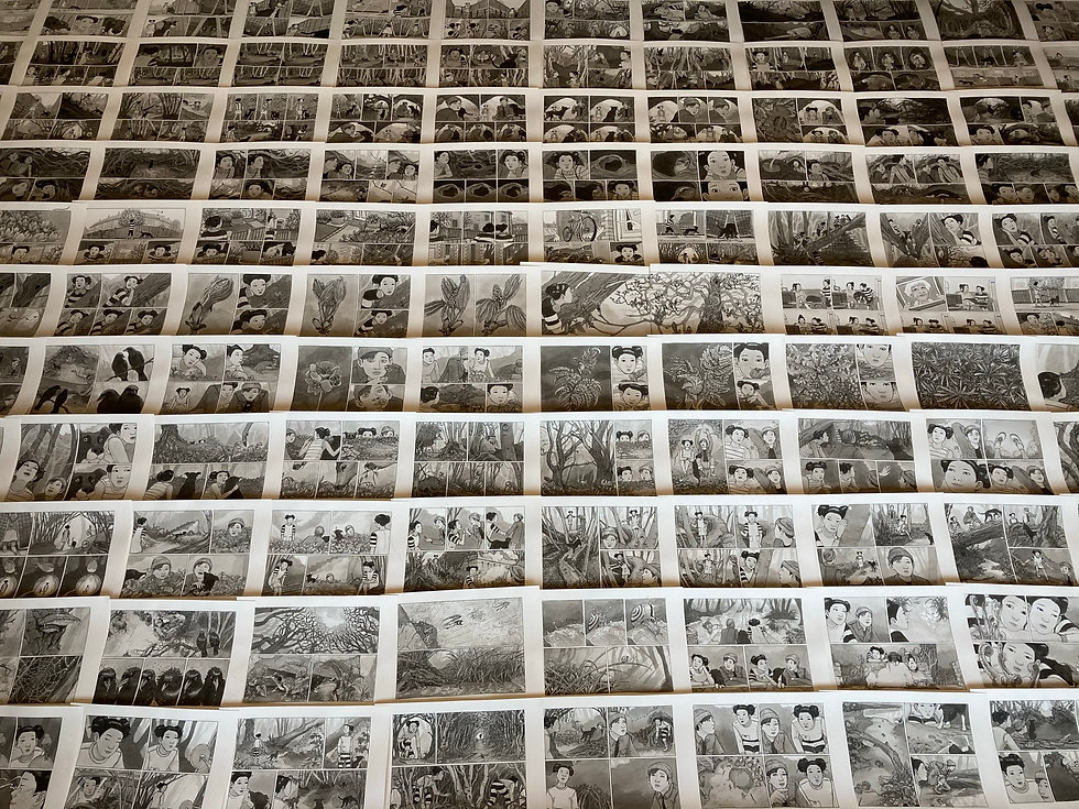 The pages from 'Wildful', a graphic novel by Kengo Kurimoto