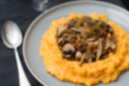 pompoenpuree met paddenstoelen recept