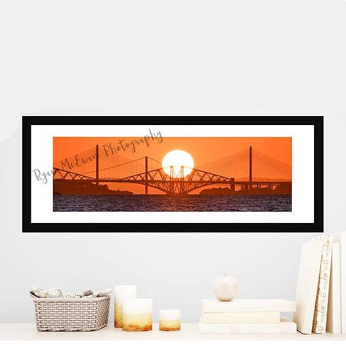 Forth Bridge Sunset Ryan McEwan Photography