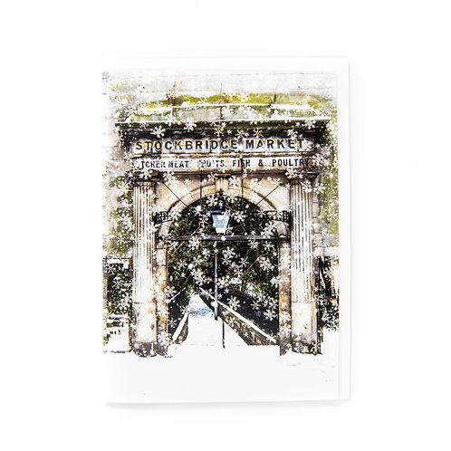 Stockbridge Market Snowing Card