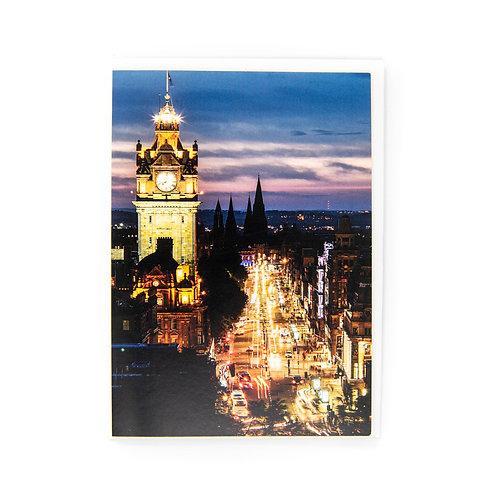 Princes Street Edinburgh Card by Ryan McEwan Card