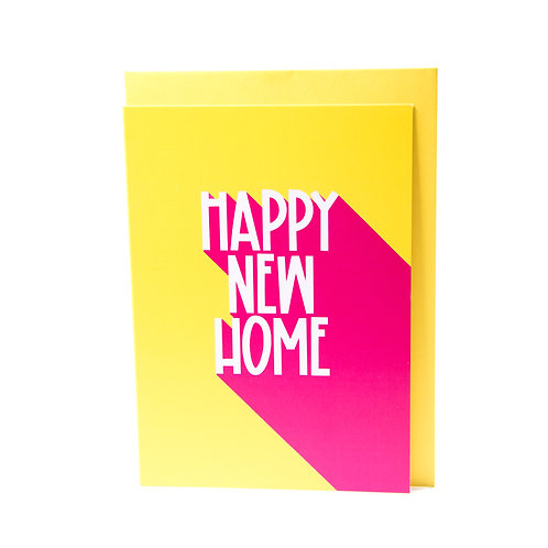 Happy New home card with envelope