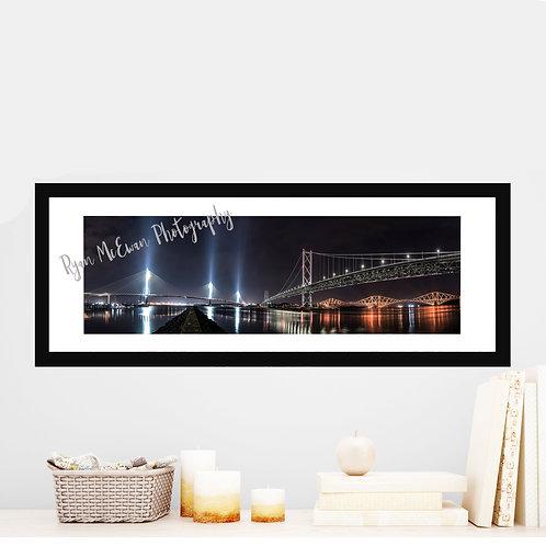 Three Bridges Panoramic Print For Sale by Ryan McEwan Photography