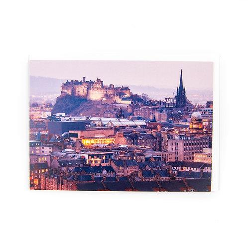 Edinburgh Castle Dusk Card by Ryan McEwan Photography