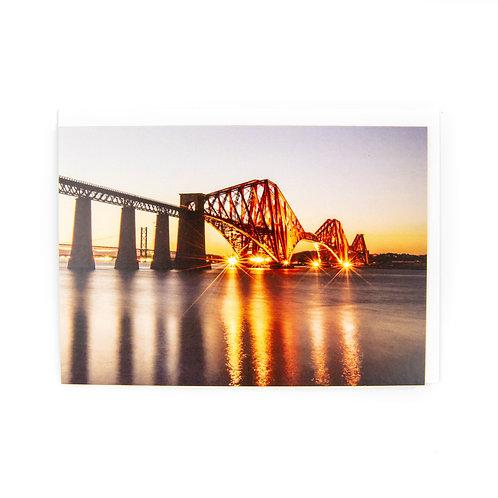 Forth Bridge Edinburgh Card by Ryan McEwan Photography