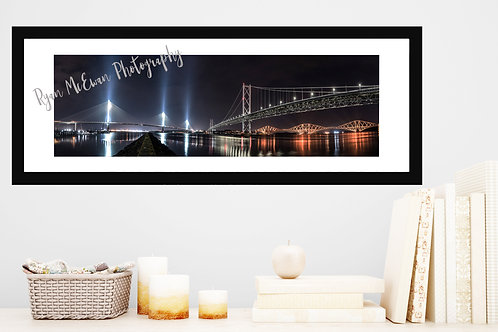 Three bridges from Port Edgar Panoramic Print