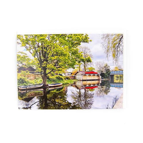 Boathouse on the Union Canal Edinburgh Card by Ryan McEwan photography