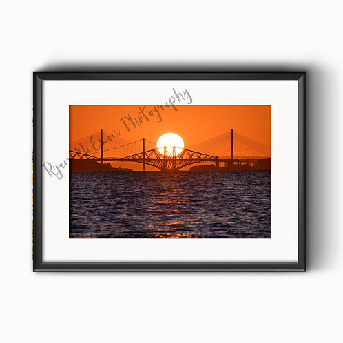 Forth Bridges Perfect Sunset Print