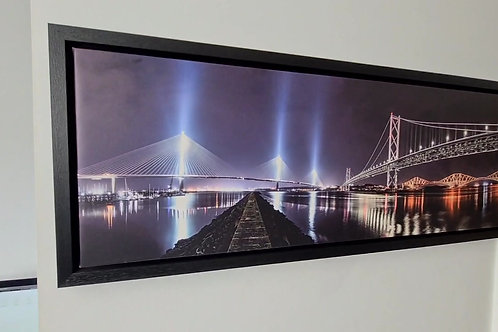 Three Bridges over the Forth Canvas Framed
