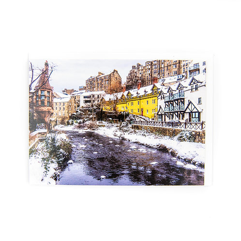 Dean Village Edinburgh Card by Ryan McEwan Photography