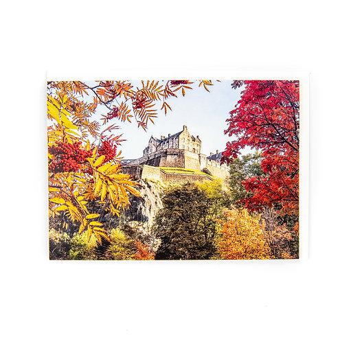 Edinburgh Castle Autumn Card by Ryan McEwan Photography