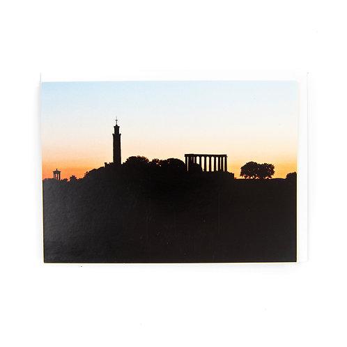 Calton Hill Edinburgh Card by Ryan McEwan Photography