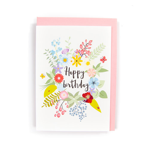 Floral Birthday Card by Ryan McEwan Photography