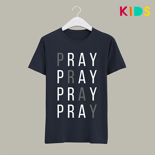 Pray Pray Christian Kids T-shirt by Stay Lit Apparel Christian Clothing Brand