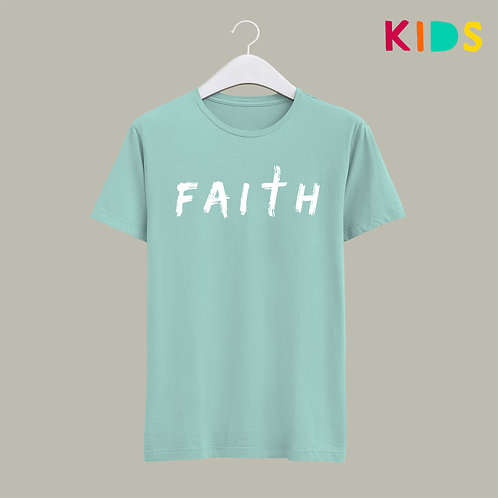 Faith Kids Christian T-shirt by Stay Lit Apparel Children's Christian Clothing UK