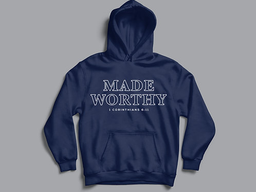 Made worthy Christian Bible Verse Hoodie