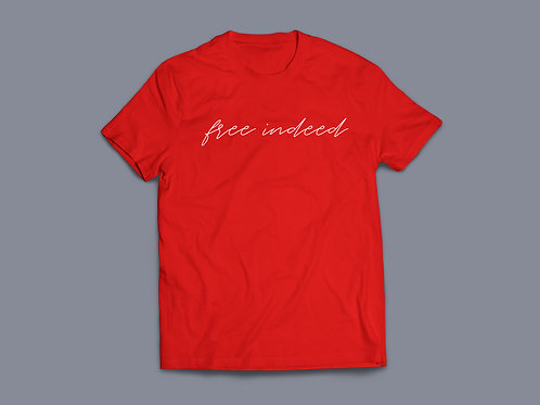 Free Indeed Bible Verse Christian T-Shirt by Stay Lit Apparel Christian Clothing Brand UK