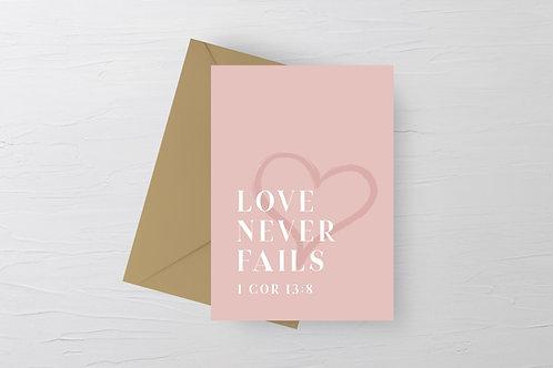 Love never fails card