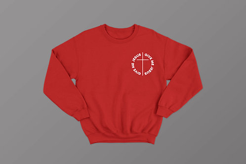 Give me Jesus Red Christian Sweatshirt