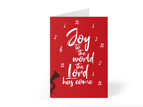 Pack of Christian Christmas Cards, Joy to the World, Stay Lit Apparel, Christian Greetings Cards