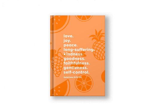 Orange Fruits of the spirit notebook