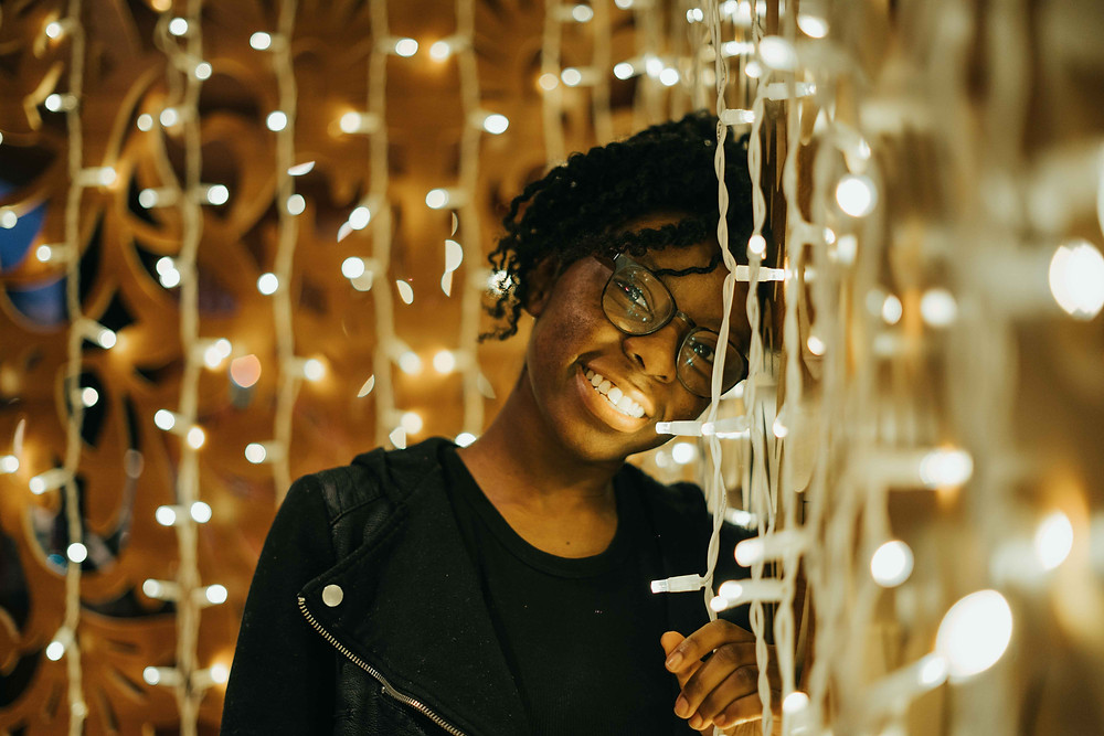 Black Girl with Lights