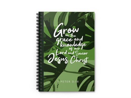 Grow in grace 2 peter Bible verse notebook, Christian notebook, Stay Lit Apparel, Christian Stationery, Christian Gifts UK