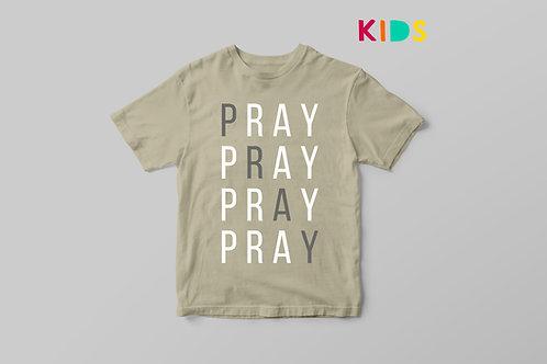 Pray Christian Kids T-shirt, Christian T shirt for Children UK