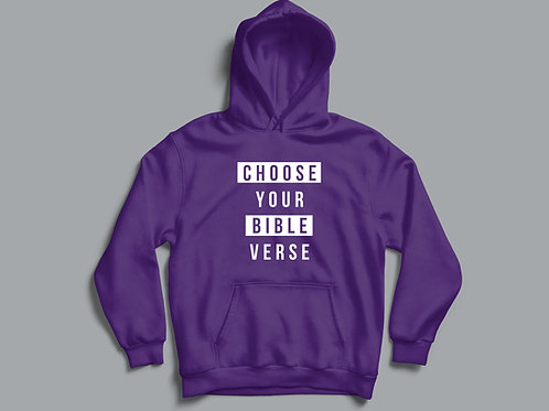 Choose your own Bible Verse Hoodie, Customisable Christian Hoodie, Personalised Christian Clothing Stay Lit Apparel UK